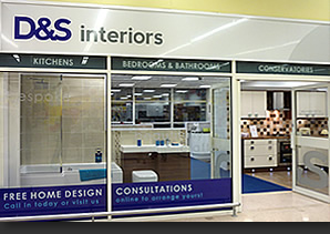 D&S Interiors signage & showroom design, at Tesco, Kingston Park, Newcastle upon Tyne