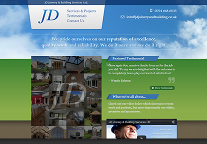 JD Joinery website thumbnail